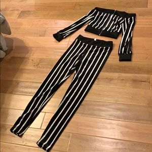 NWOT Matching Set Striped Outfit Size Small